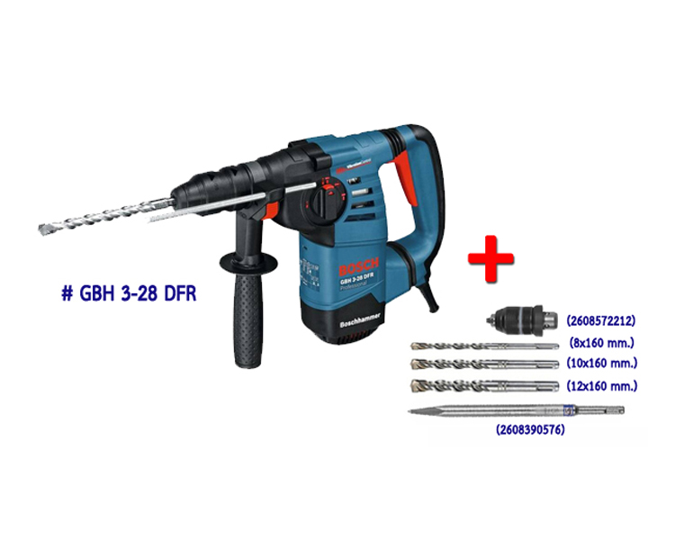 3 bosch rotary hammer with sds plus bangkok hardware samkong phuket. Black Bedroom Furniture Sets. Home Design Ideas